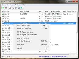 تحميل برنامج معرفة الاجهزة بالمتصلة بالشبكة wireless network watcher